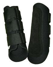 2x sets Large Black Neoprene Splint Tendon Horse Boots Front or Rear 2 Pair