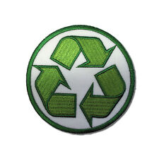 Embroidered Recycle Sew or Iron on Patch Biker Patch