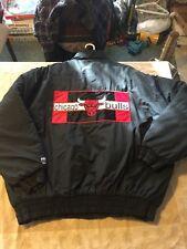 Authentic Logo 7 Chicago Bulls Parka Puffy Jacket Men's L Jordan Nike 90s