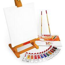 Reale Talens Arte Creation Acrilico Set – Colori, Spazzole, Tela, Palette,