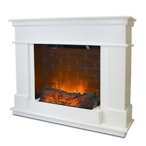 Fireplace Electric Fire Free Standing Mantelpiece Heater Brick Surround Suite