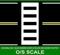 HIGHWAY STREET CROSSWALK LINES 1/48 O SCALE TRAIN LAYOUT GARDEN