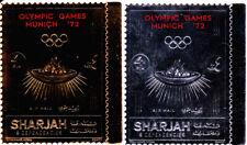 Sharjah 1972 Summer Olympic, Munich 1972, MNH, perf. gold/silver #1