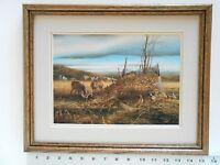 Terry Redlin SHARING THE BOUNTY framed 11X14 o