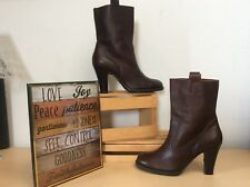 Nine & Company (Marchik) Brown Pebbled Leather Ankle Dress Boots 7.5M PreOwned