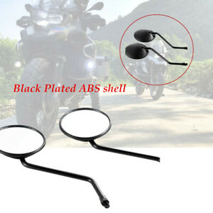 1 Pair Motorcycle Round Mirror 10mm Thread Rear Side View  Mirror Left and Right