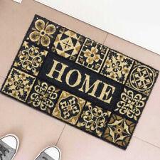 Tappeto Zerbino Home Tile in Fibra di Cocco 60x40cm Ingresso Casa Beige Nero