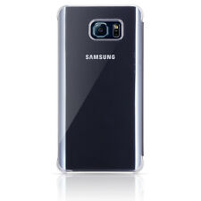 Samsung Galaxy S6 Edge+ S-View Flip Cover Case Clear / navy OEM Original Plus
