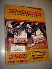 Vintage WINCHESTER AMMUNITION 2003 Product Guide CATALOG super short magnum
