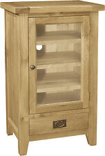 Panama solid oak furniture hi-fi storage cabinet unit