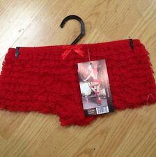 Red Ruffled Tanga Panties By Leg Avenue
