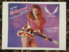 F / Hecho A Mano tarjeta de saludos Con Tema Musical Dean Guitars