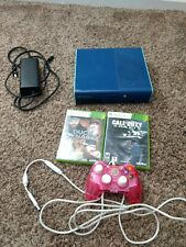 Microsoft Xbox 360 E Blue Bundle 512Gb Blue Console with pink controller