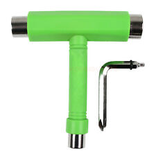 Skate Skateboard Longboard T TOOL MultiFunctional All In One Wrench -Green Color