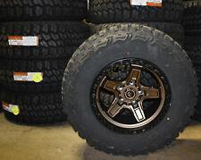 """17x9 Fuel D699 Kicker Bronze Wheels Rims 33"""" Mt Tires 5x5 Jeep Wrangler Jk Jl"""