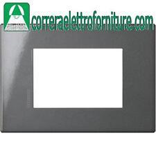 BTICINO AXOLUTE placca AIR 3 posti moduli antracite HW4803HS