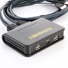 útil doble puerto USB 2.0 HDMI Conector KVM Cable para 2 monitor teclado ratón
