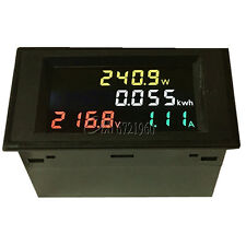 AC 80-300V LCD Digital 100A Volt Watt Power Kwh Meter Ammeter Voltmeter Digital