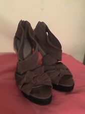 """Women's Size 5.5 Shoes Brown Real Suede Strappy 5"""" Heels, Carvela Brand"""