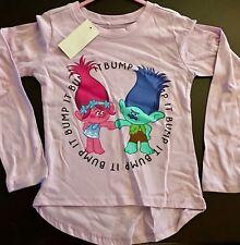 Fist Bumping Trolls Girls Top Shirt New Size 5