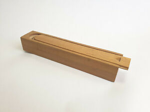 Vintage / Retro Wooden Tiered Swivel School Pencil Box / Case