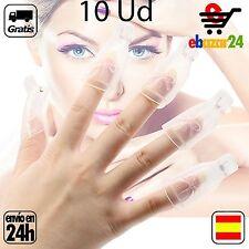 10x Pinza de Plastico Clip uñas manicura ultra violeta UV gel removedor *Envío G