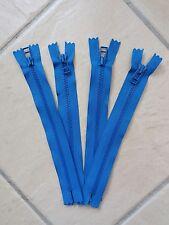 4 VISLON YKK ZIP 20CMS HEAVY DUTY IN BLUE
