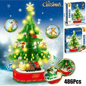 Music Box Kids Building Blocks Toys Puzzle Christmas Tree DIY Assemble Gifts NEW