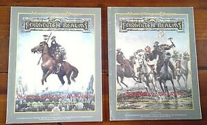 AD&D Forgotten Realms Dm's Source Book +Cyclopedia of the Realms 1987 Vintage
