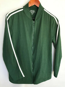 Vickie Wayne Sport Top Size PM Petite Green Front Long Sleeve Pockets