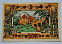 DINGOLFING Stadt Notgeld Kriegsgeld 50 Pfennig 1918 KN auf Raster (3551)