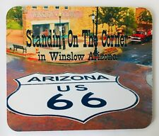 """Route 66 Mouse Pad Standin on the Corner in Winslow Arizona 9 x 7.75"""" New NOS"""