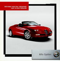 Alfa Romeo Spider Prospekt 2003 Autoprospekt brochure Broschüre prospetto Auto
