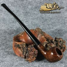 """EXCLUSIVE HAND MADE - SMOOTH BRIAR wood smoking pipe """" SERVANT """" Brown smooth"""