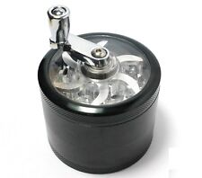 Small Herb Grinder 4-layer Aluminum Hand Crank Herbal Herb Tobacco Grinder