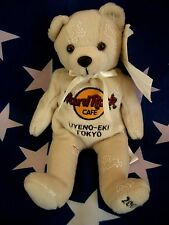 HRC Hard Rock Cafe Uyeno Eki Tokyo New Year 2003 Bear Beige LE   8`` Herrington