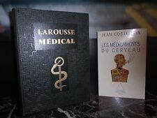 Larousse médical 1952 Les médicaments du cerveau 1993 ARTBOOK by PN