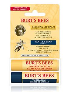 Burt'S Bees Moisturising Lip Balm, Pack of 2