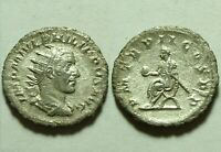 Genuine ancient Roman coin ANTONINIANUS Emperor Philip I, the Arab; AD 244-249.