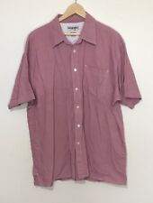 Wrangler Hero Shirt 2XL Red White Check Short Sleeve Button Up