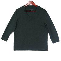 Banana Republic Women's Green Wool Blend 3/4 Sleeve Sweater - Size XL