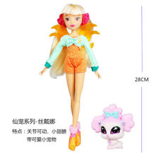 Newest Winx Club Doll rainbow colorful girl Action Figures Fairy stella doll