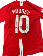 More details for 2008 uefa champions league final shirt signed by wayne rooney 100% with coa