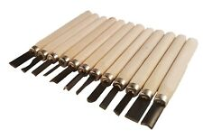 12 pcs Wood Carving Tool Set Whittling Wood Handle Chisel Woodworkers Tool New
