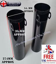 Nuevo par de Horquilla delantera negra cubierta de tubo principal Royal Enfield Bullet 350CC @Uk