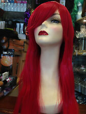 """BEAUTIFUL LUXURIOUS LONG STRAIGHT THICK  WIG FITS ALL POPPY RED 26"""" UK"""