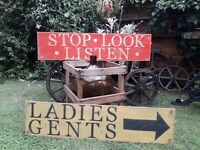British Rail Sign Steam Railway Station Train signal hornby mancave LNER GWR SR