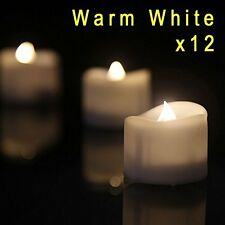Flameless Candles Battery Operated Uneven Edge LED Tea Lights 12 Warm White New