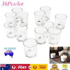 36xClear Stylish Glass Votive Candle Tea Light Holder Candlestick Decor Party