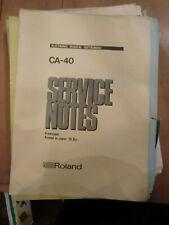 Roland ca 40 guitar amp original service notes circa 1976 original jc line